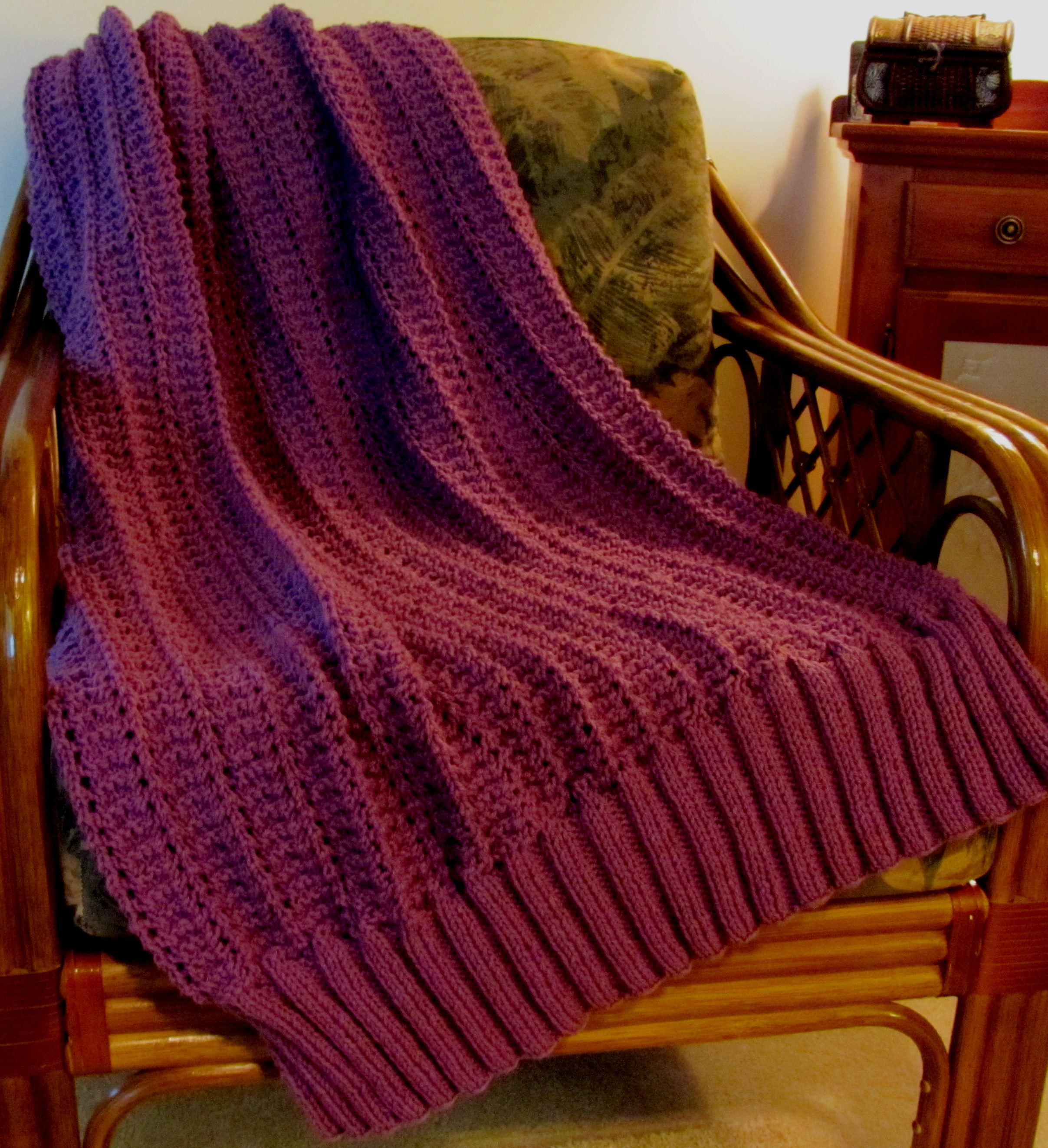 Free Afghan Knit Patterns : Knit Afghan
